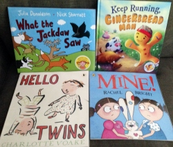 Four picture book covers